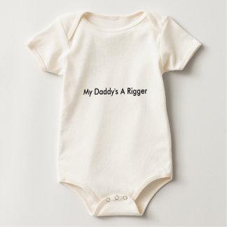 Body Para Bebê Uma ligação em ponte do Rigger do meu pai