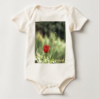 Body Para Bebê Uma papoila