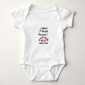 Body Para Bebê Uma pessoa versado é uma criatura perigosa