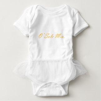 Body Para Bebê Único Mio de O. Texto decorativo do inclinação