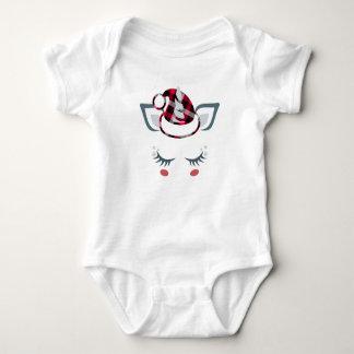 Body Para Bebê Unicórnio bonito do papai noel