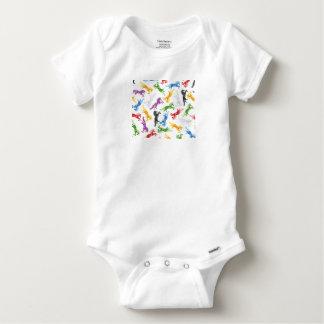 Body Para Bebê Unicórnio colorido do teste padrão