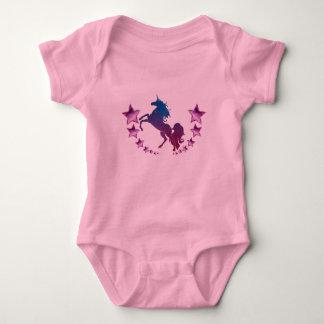 Body Para Bebê Unicórnio com estrelas