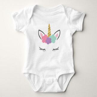 Body Para Bebê Unicórnio com pestanas, cara do unicórnio,