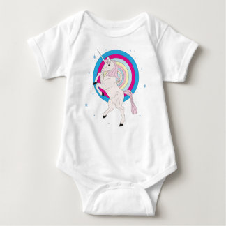Body Para Bebê Unicórnio cor-de-rosa