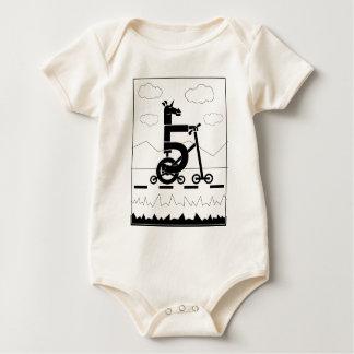 Body Para Bebê Unicórnio de cinco velocidades