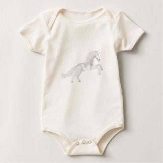 Body Para Bebê Unicórnio do branco da ilustração
