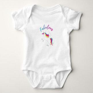 Body Para Bebê Unicórnio fabuloso - design mágico do arco-íris -