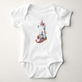 Body Para Bebê Unicórnio feliz