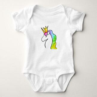 Body Para Bebê Unicórnio mágico da aguarela com coroa