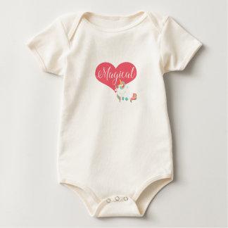 Body Para Bebê Unicórnio Onsie - design mágico com coração
