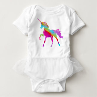 Body Para Bebê Unicórnio prancing do arco-íris sparkly mágico