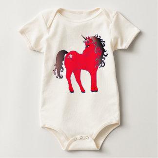 Body Para Bebê Unicórnio vermelho bonito