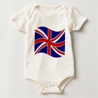 Body Para Bebê Union Jack de ondulação