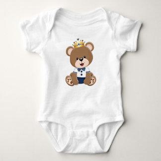 Body Para Bebê Ursinho Príncipe Marrom