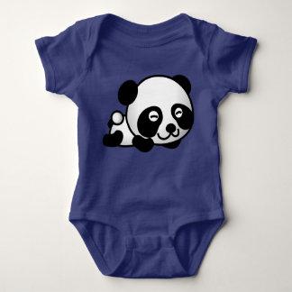 Body Para Bebê Urso de panda bonito que encontra-se para baixo