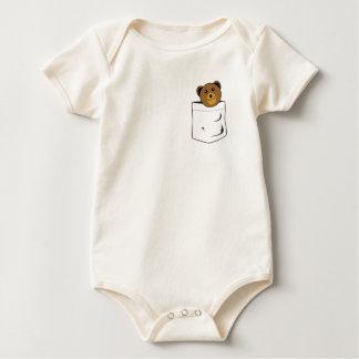Body Para Bebê Urso no bolso