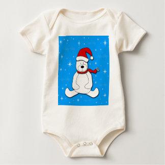 Body Para Bebê Urso polar azul