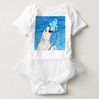 Body Para Bebê Urso polar com Marshmallow brindado