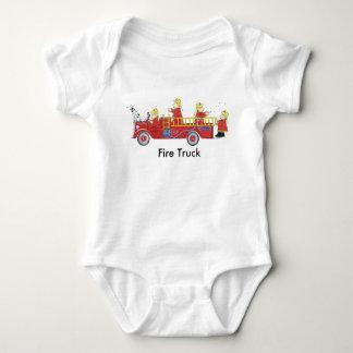 Body Para Bebê Ursos do carro de bombeiros