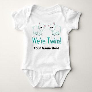 Body Para Bebê Ursos polares personalizados dos gêmeos