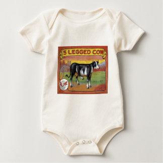 Body Para Bebê Vaca cinco equipada com pernas