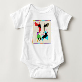 Body Para Bebê Vaca Onsie do arco-íris