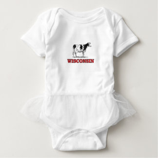 Body Para Bebê vaca vermelha de Wisconsin