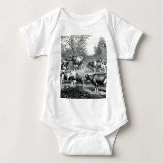 Body Para Bebê Vacas fresian das vacas fresian de Holstein