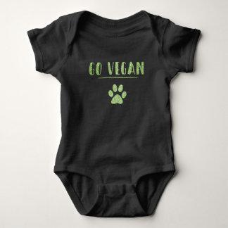 Body Para Bebê Vai a tipografia animal do brilho do verde do