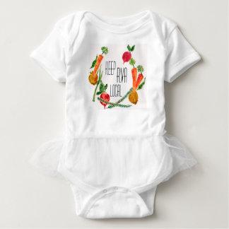 Body Para Bebê Vai o bebê fresco do design da fazenda local de