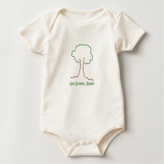 Body Para Bebê vai o verde, bebê orgânico