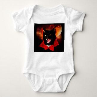 Body Para Bebê vampiro do gato - gato preto - gatos engraçados
