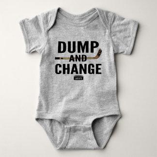 Body Para Bebê Varas da cor do Bodysuit do bebê do hóquei da