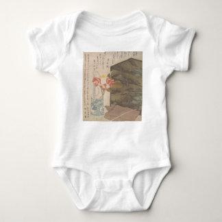 Body Para Bebê Vaso de flor e caixa da laca - chinês