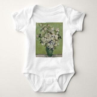 Body Para Bebê Vaso de Vincent van Gogh dos rosas que pintam a
