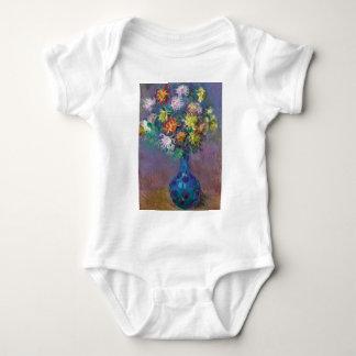 Body Para Bebê Vaso dos crisântemos Claude Monet