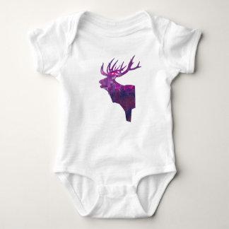 Body Para Bebê Veado principal dos cervos no lilac