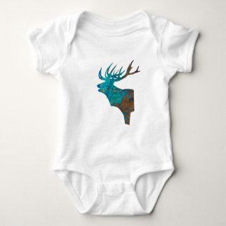 Body Para Bebê veado principal dos cervos nos turqouis e no