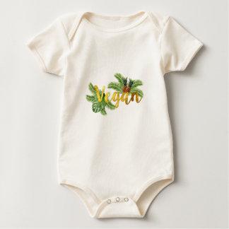 Body Para Bebê Vegan do ouro com abacaxis