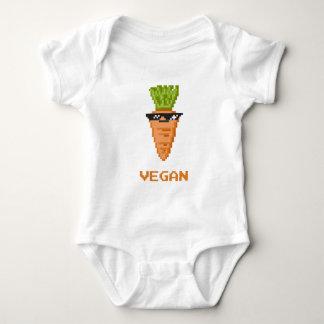 """Body Para Bebê Vegan """"negócio com ele"""" cenoura"""