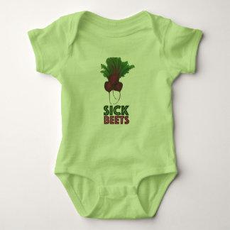 Body Para Bebê Vegan vermelho doente do vegetariano do grupo das
