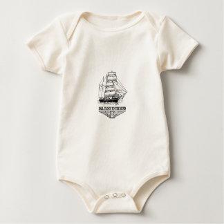 Body Para Bebê vela da regra perto do vento