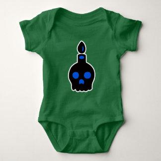 Body Para Bebê Vela do crânio - azul