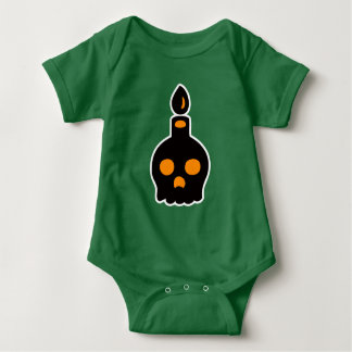 Body Para Bebê Vela do crânio - laranja