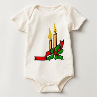 Body Para Bebê Velas do Natal
