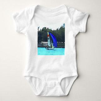Body Para Bebê Veleiro azul