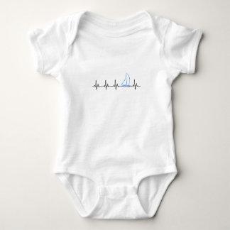 Body Para Bebê Veleiro engraçado da pulsação do coração da