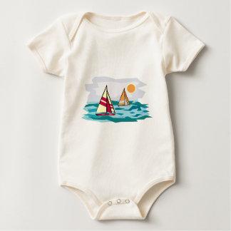 Body Para Bebê Veleiros no mar