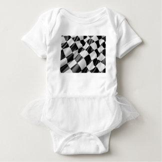Body Para Bebê Velocidade preto e branco do revestimento da
